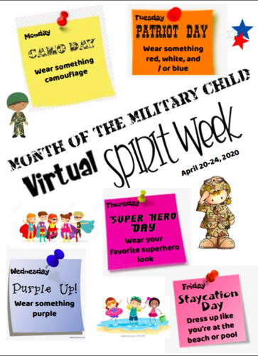 Month of the Military Child Virtual Spirit Week