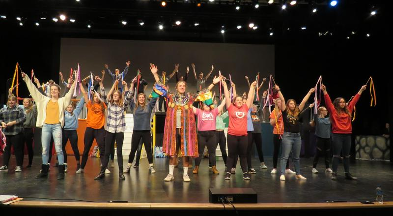TKHS students rehearse for the upcoming performances of
