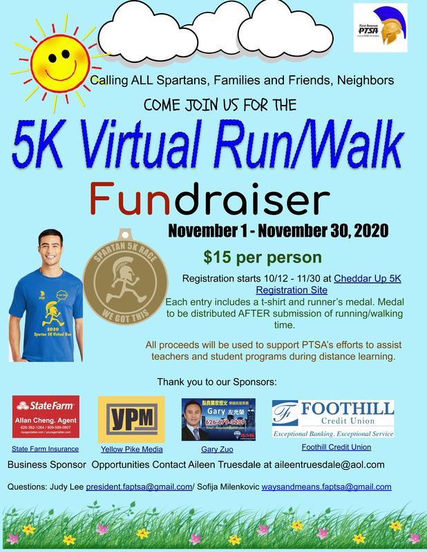 5K Virtual Run flyer