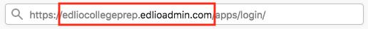 Copy Edlio CMS admin URL