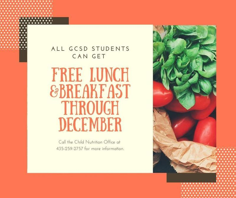 Free Lunch & Breakfast for GCSD Students Featured Photo