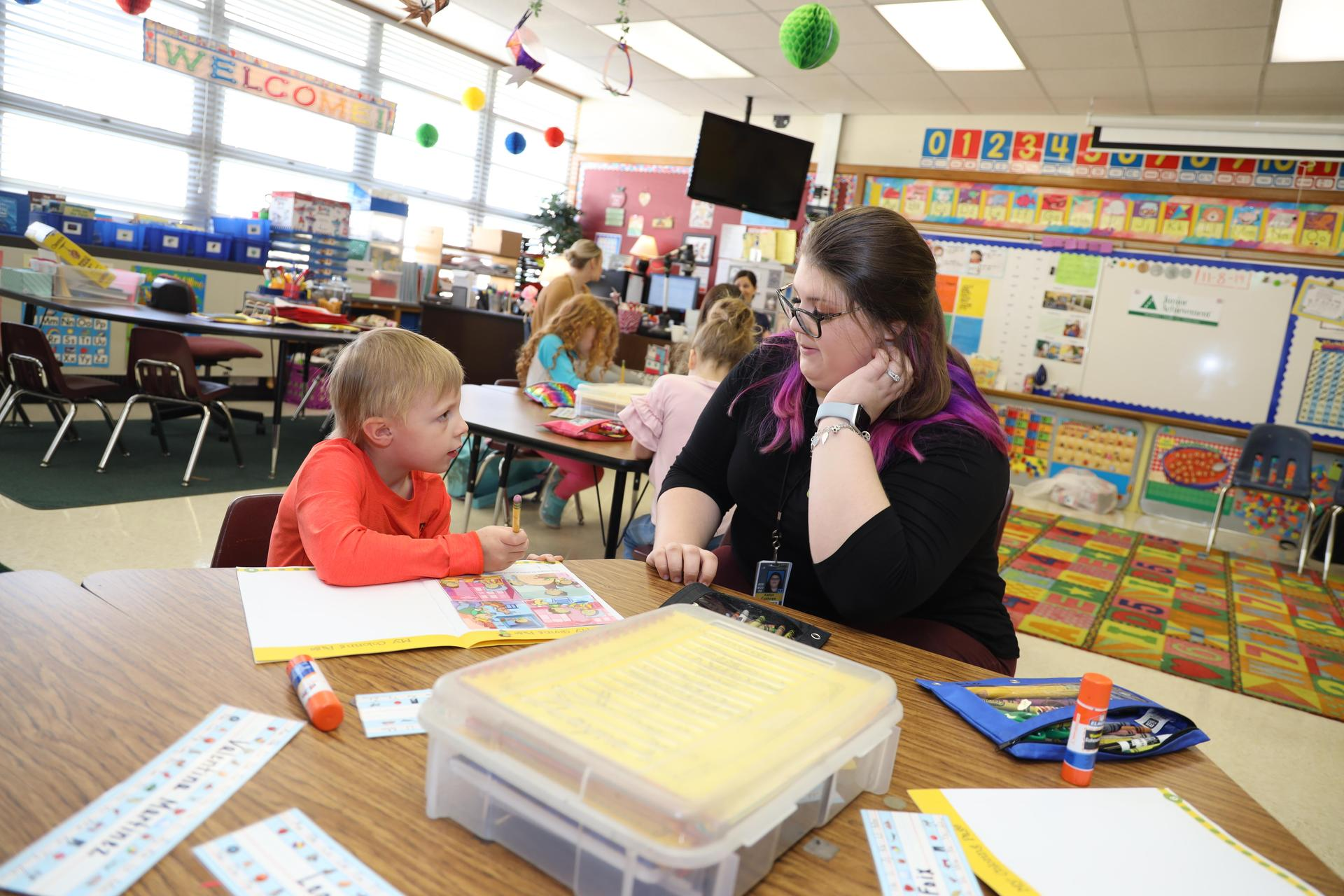 South Campus students teach Carpenter Elementary kindergartners