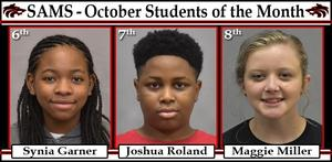 Middle School Student of Month October