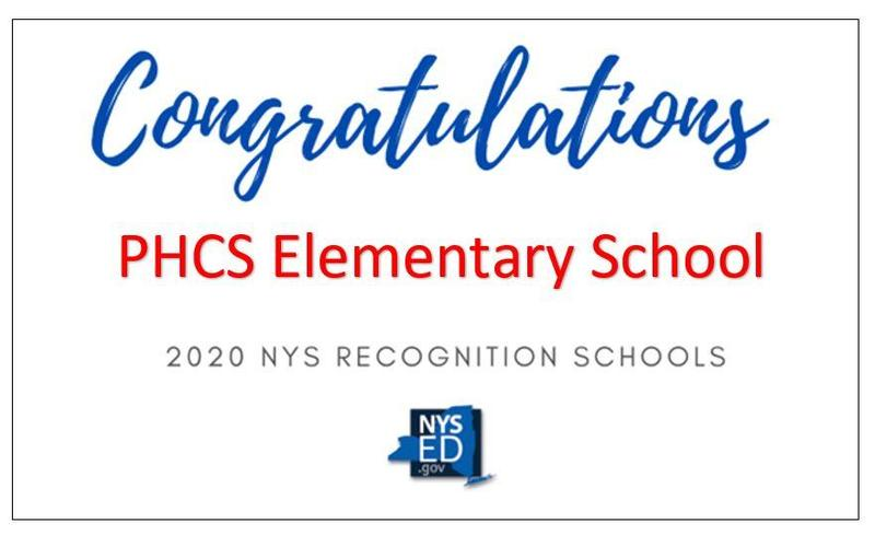 PHCS Elementary Identified as a Recognition School by NYS Featured Photo