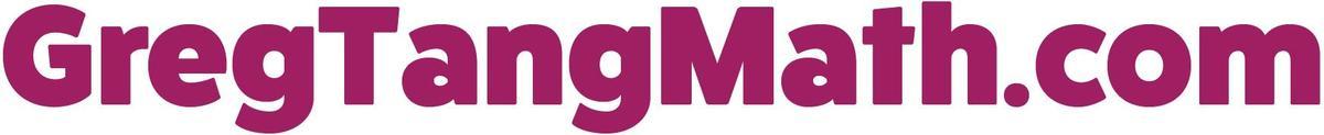 Greg Tang math text logo, purple letters