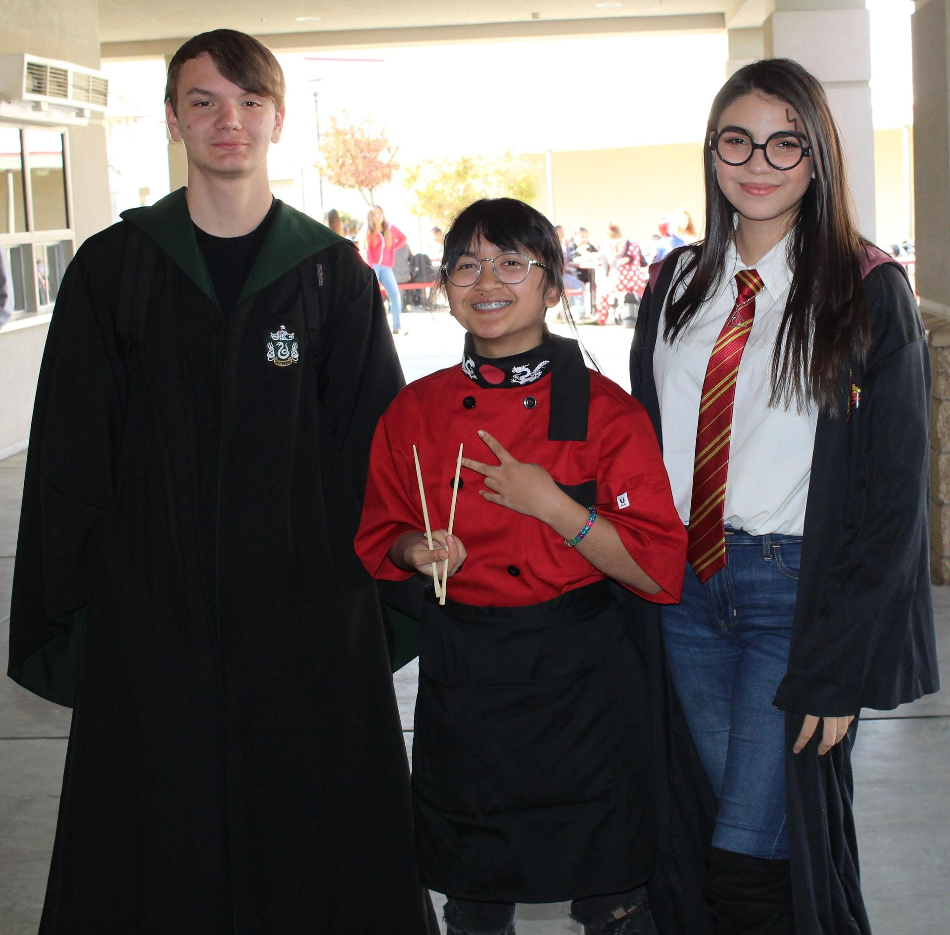 Michael Fox as harry potter, Mayvellene Dimapasoc as a chef, Charlize Yates as harry potter
