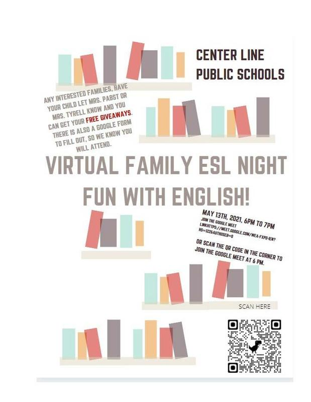 Virtual Family ESL Night ~ May 13, 2021