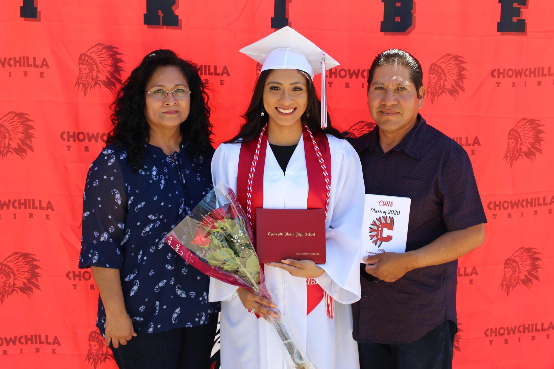 Karla Martinez and family