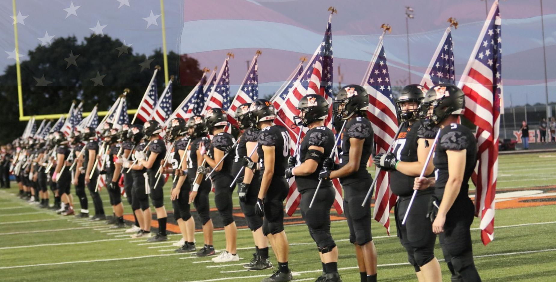 Football Salute to First Responders and Military