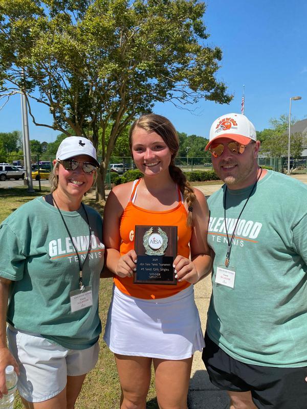 Katie Jones wins Tennis State Title Thumbnail Image