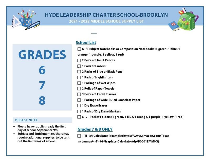 Middle School Supply List 2021-2022 Featured Photo