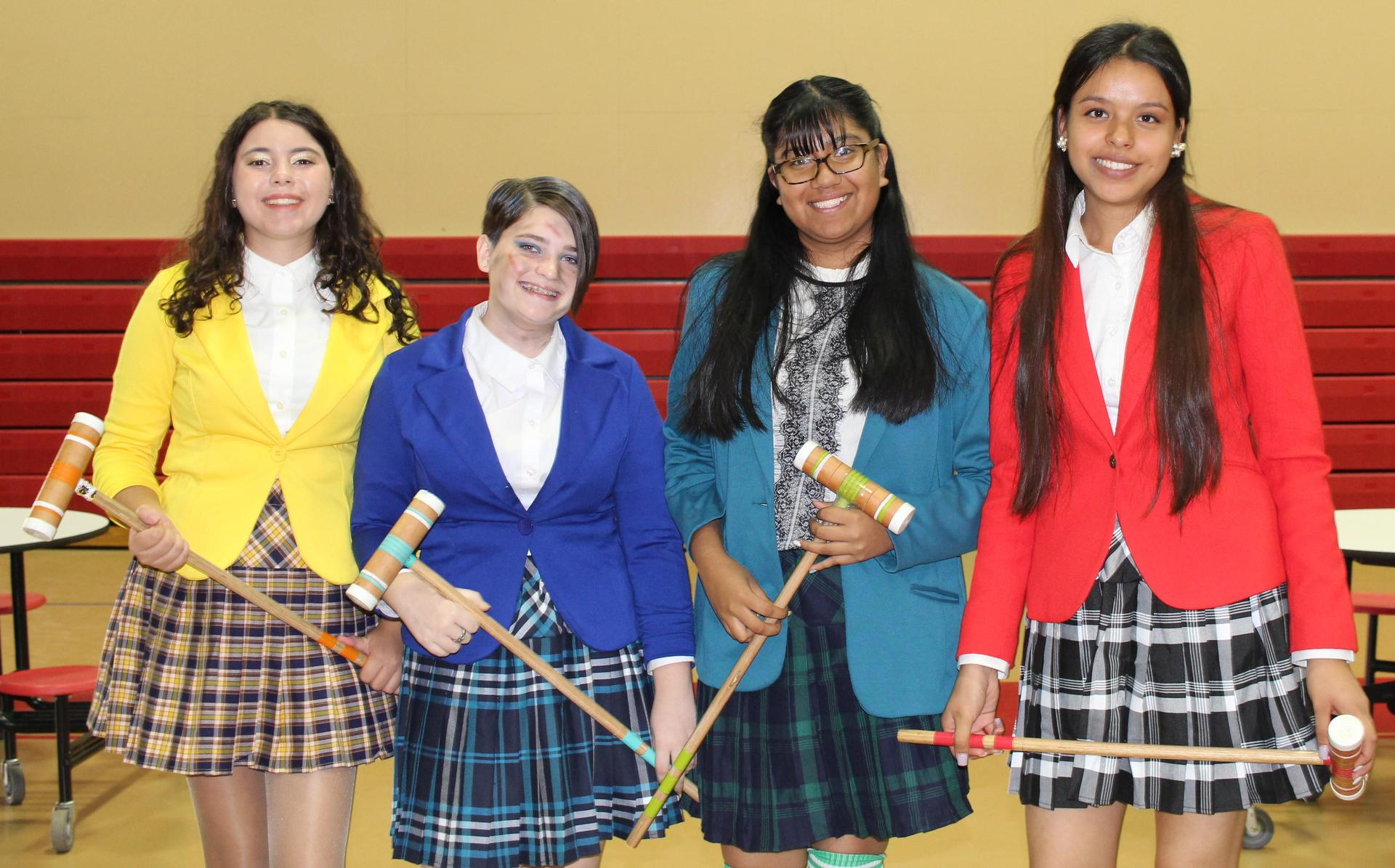 Jewel Goncalves, Alyssa Mandala, Jennifer Hernandez-Penafiel, Joanna Zapien as Croquet players