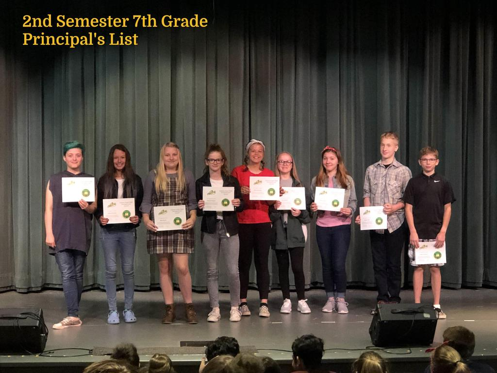 S2 7th Grade Principal's List