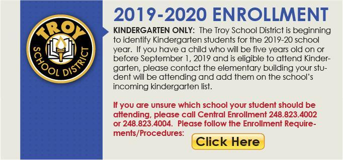 Kindergarten only enrollment 2019-2020