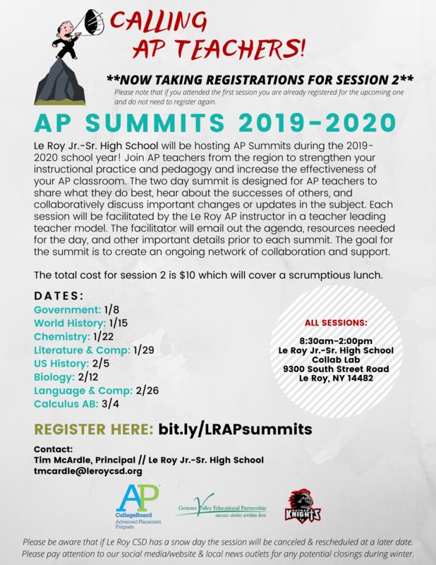 AP Teacher Summits