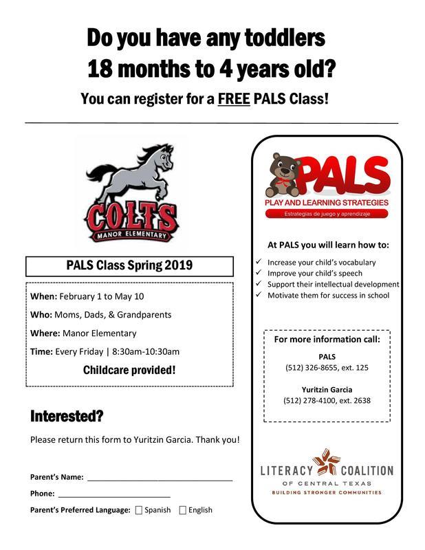 PALS Reading Program to Begin Soon! Thumbnail Image