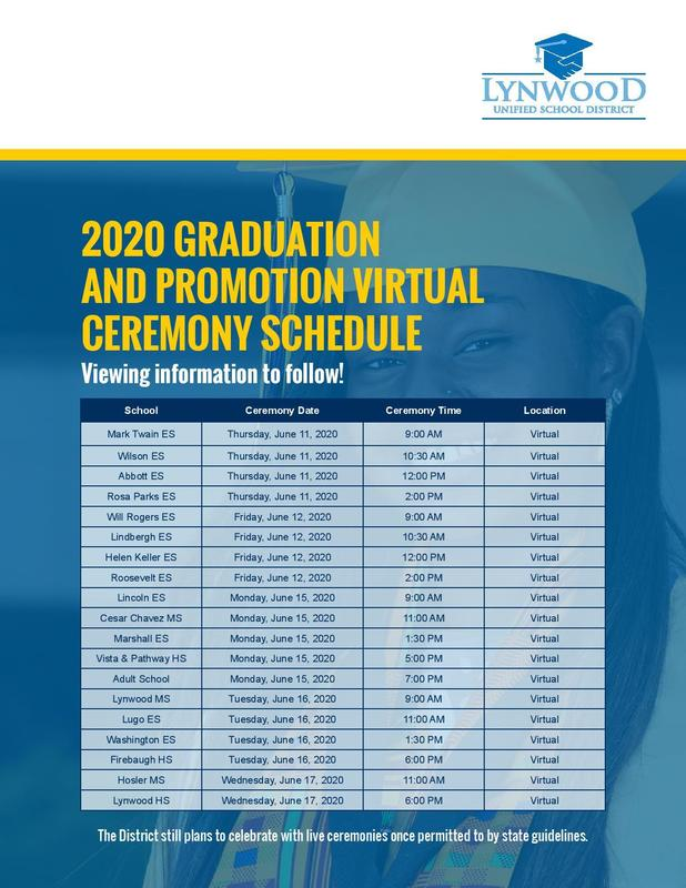 Graduation and Promotion Virtual Ceremony Schedule Featured Photo