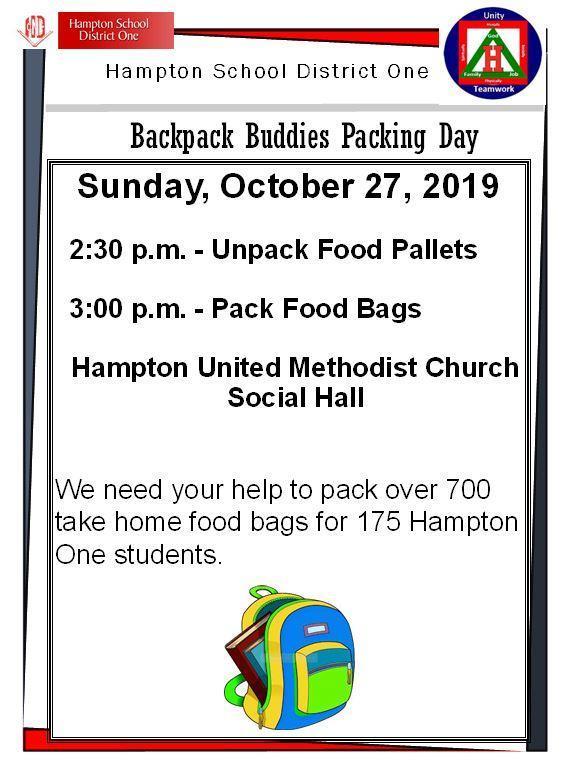 Backpack Buddies Food Packing - 10/27/2019