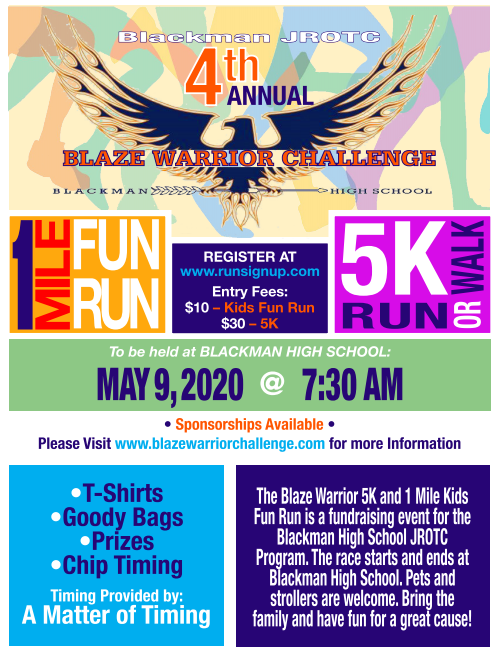 flyer for run