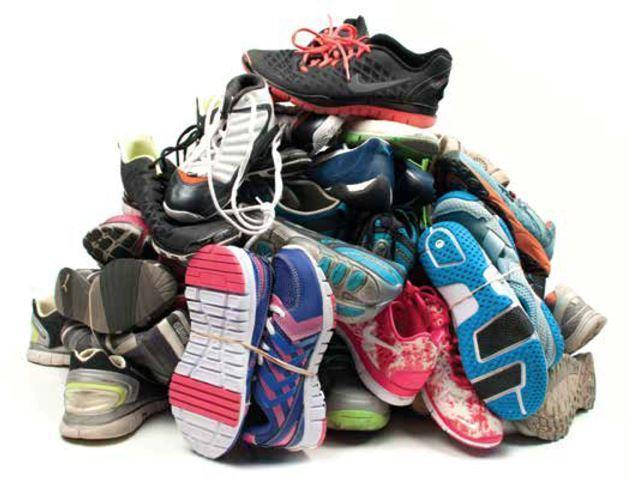 Pile of shoes image