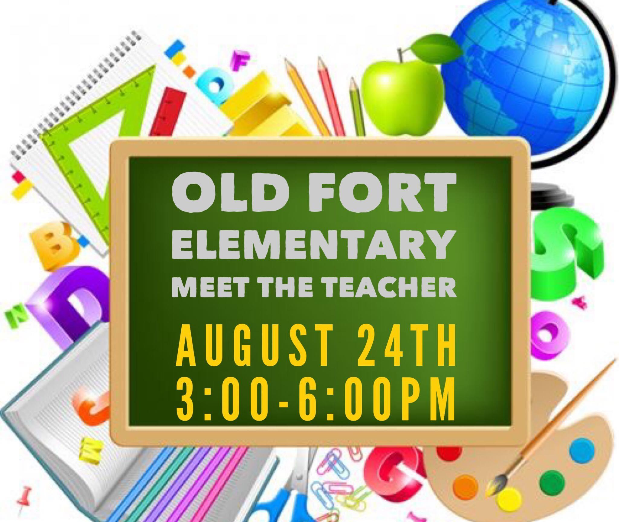 Meet the Teachers at OFE on Friday, August 24th 3:00 - 6:00 pm.