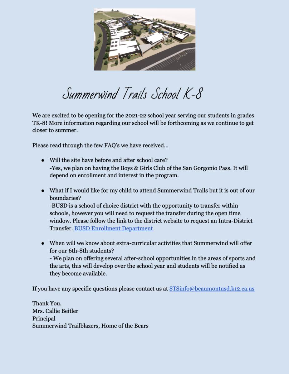 Summerwind Trails School Info