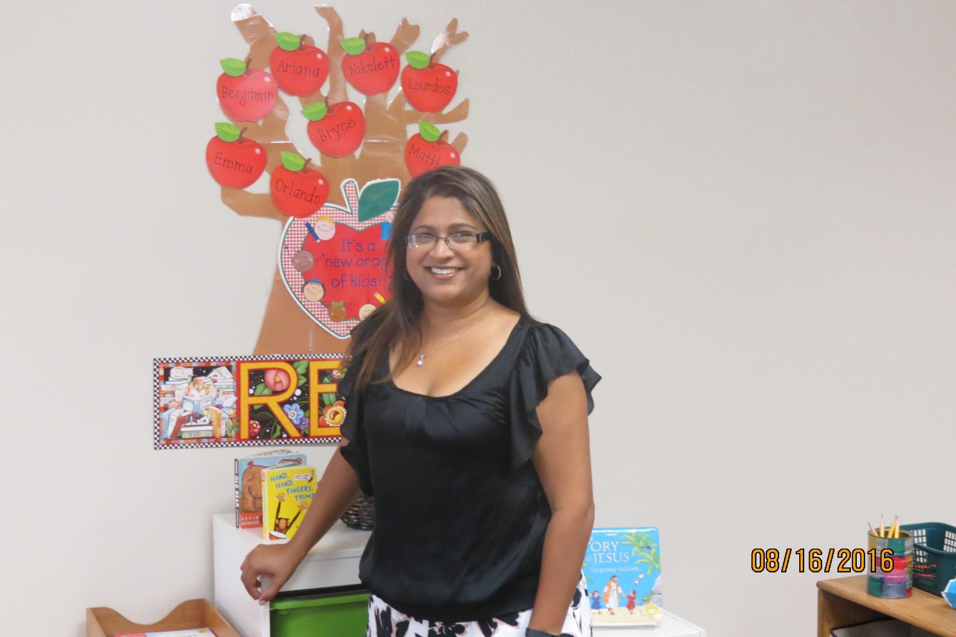 TK teacher, Mrs. Ornelas, in her classroom