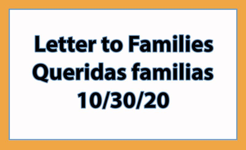 Letter to Families 10-30-20 Featured Photo