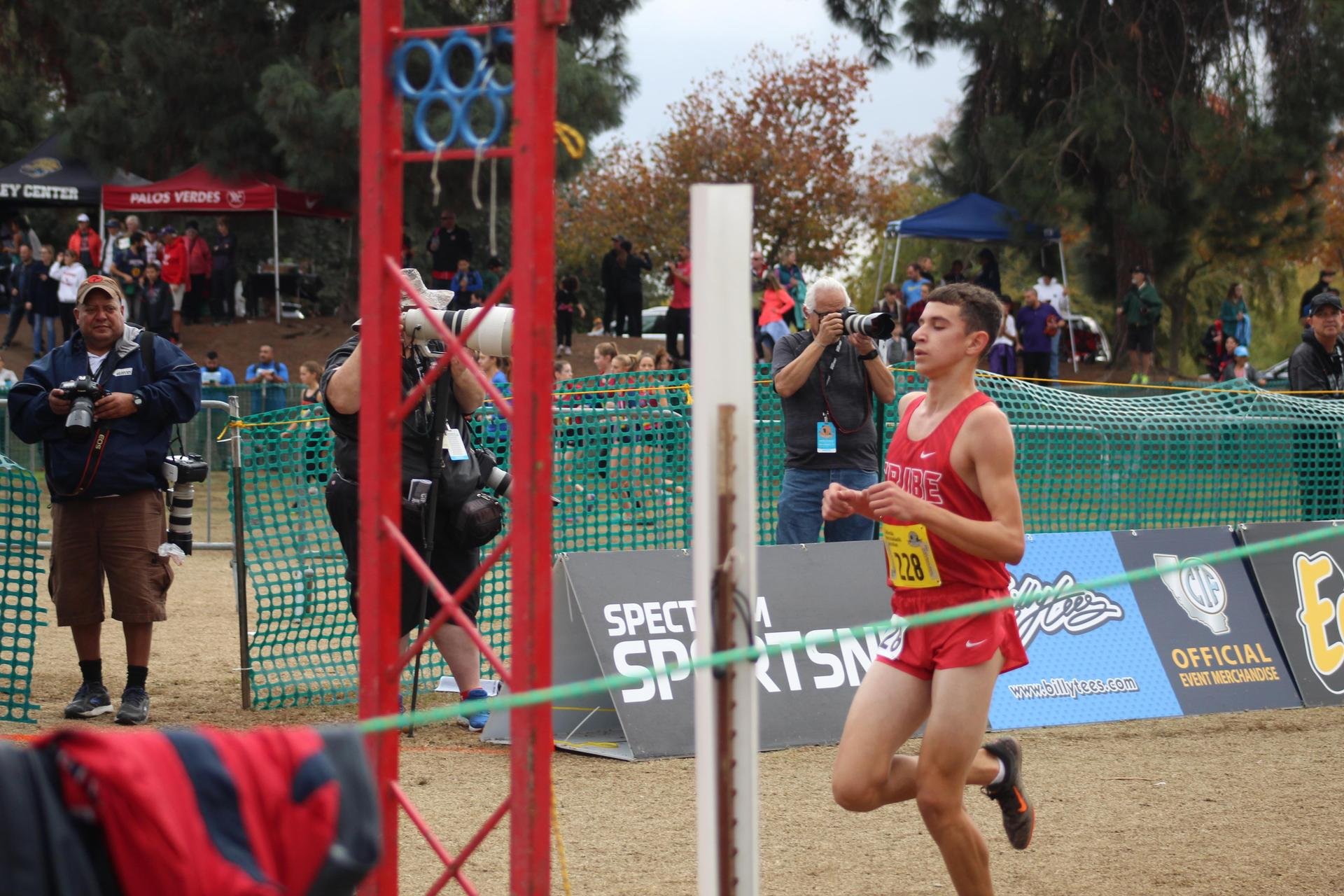 Chowchilla High School athletes running at the State Meet.