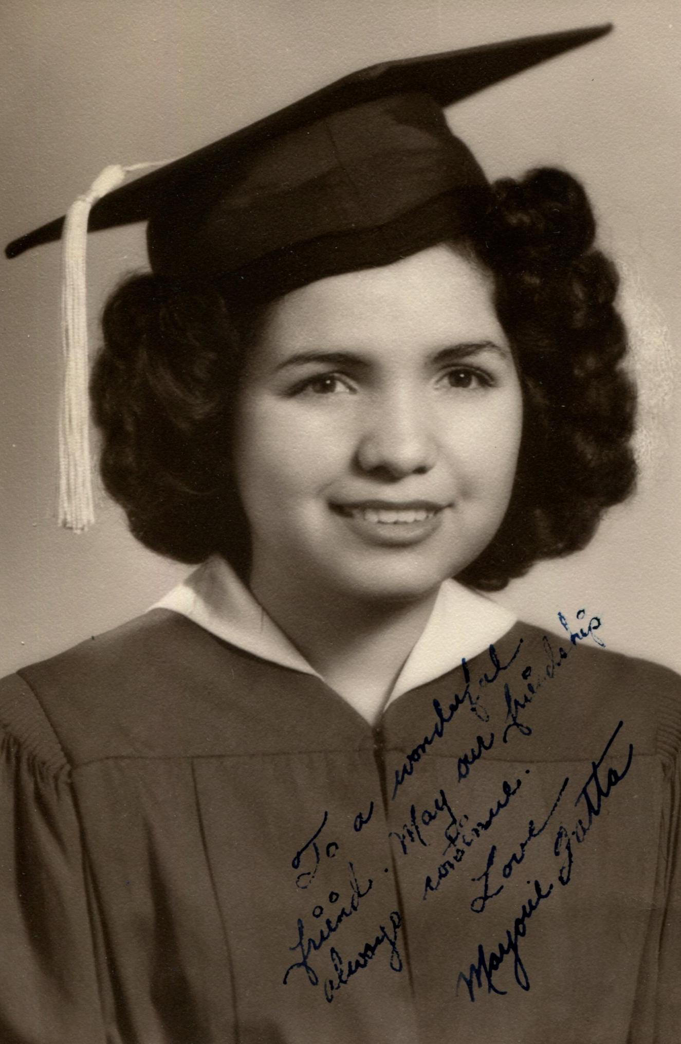 A friend of Margarita's, Marjorie Fatta, W'47