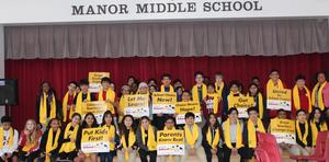 MMS students pose for National School Choice Week