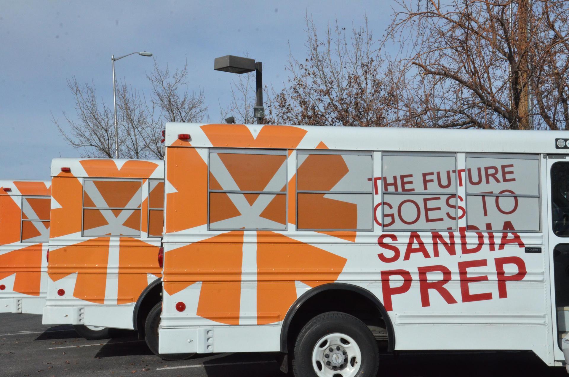 Sandia Prep's bus fleet