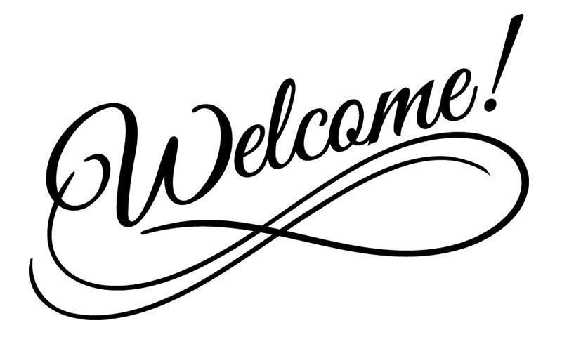 Image that reads Welcome
