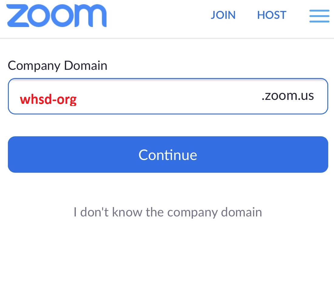 District domain