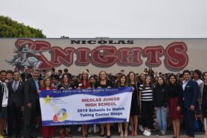 Nicolas JHS's Schools to Watch Banner