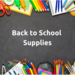 Back to school supply list icon