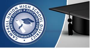 C.U.H.S.D. logo and graduation cap
