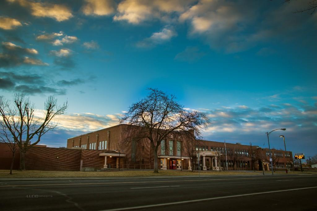 Front View of Frontier Middle School