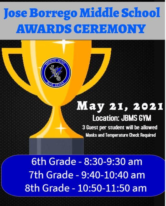 JBMS Awards Ceremony Featured Photo