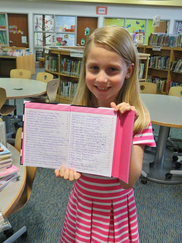 Audrey Lee kept a complete log in her journal of all the books she read.