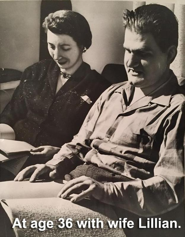 Pictured at the age of 36 with his wife Lilian