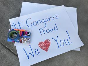 Congaree Elementary car parade