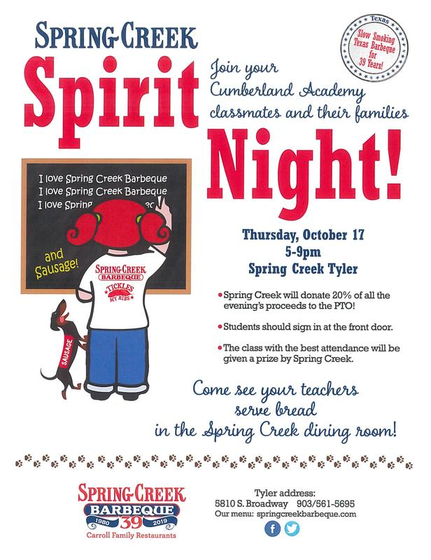 Spring Creek Spirit Night Featured Photo