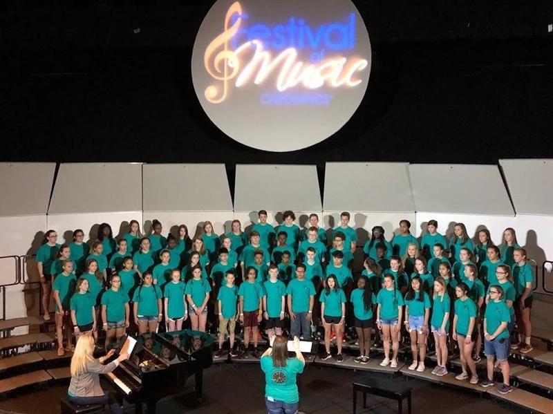 chorus performs