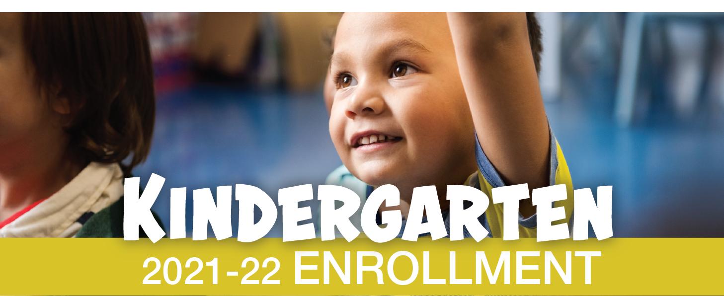 Kinder Enrollment Banner