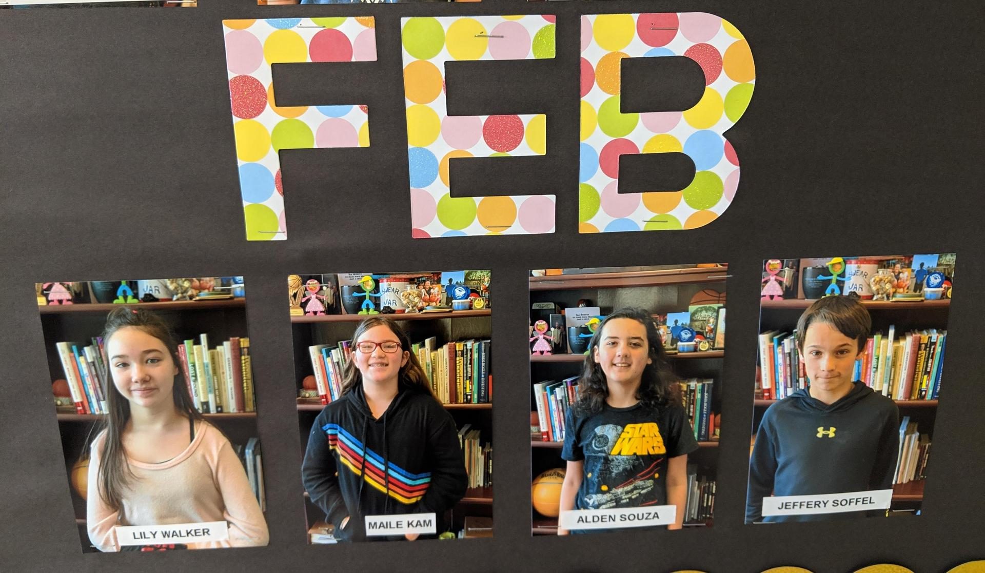 Feb students of the month
