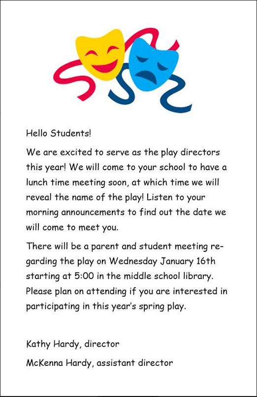 District Play Flyer