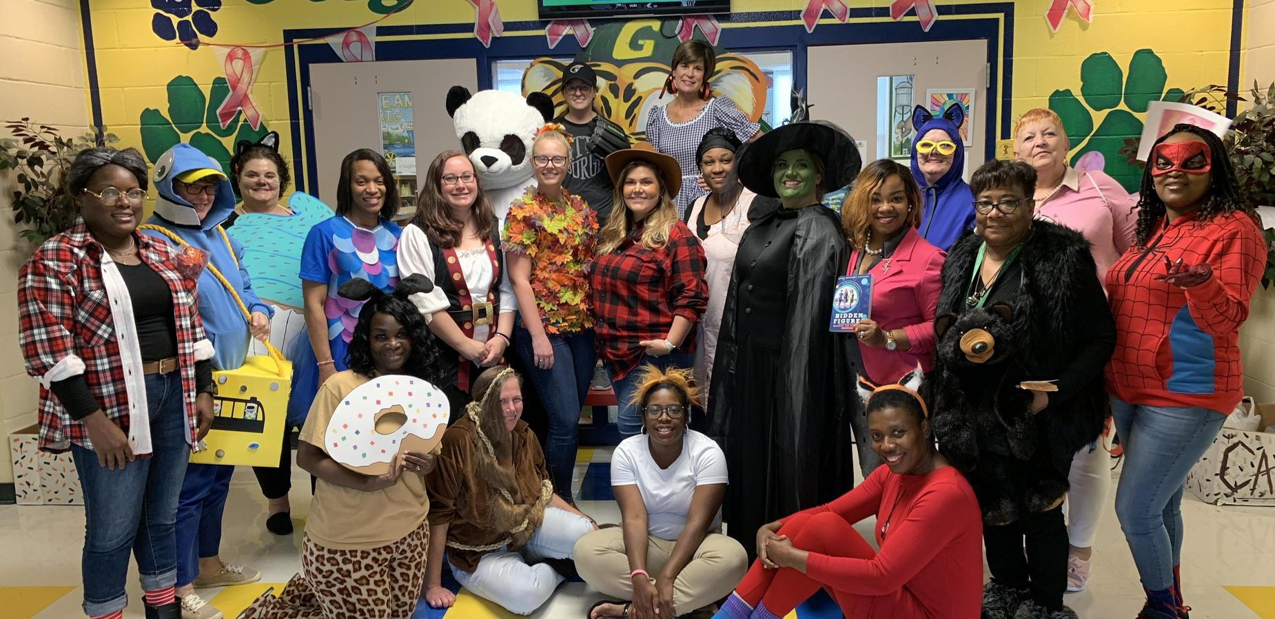 Staff during Book Character Day