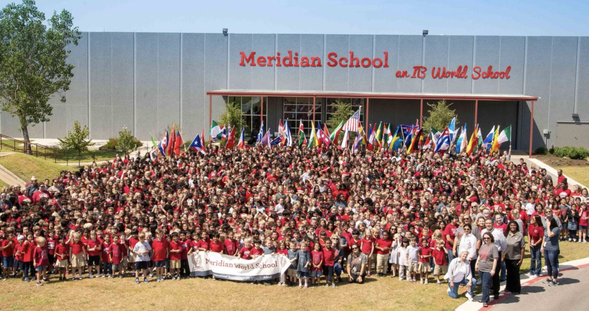 Students and staff at Meridian School