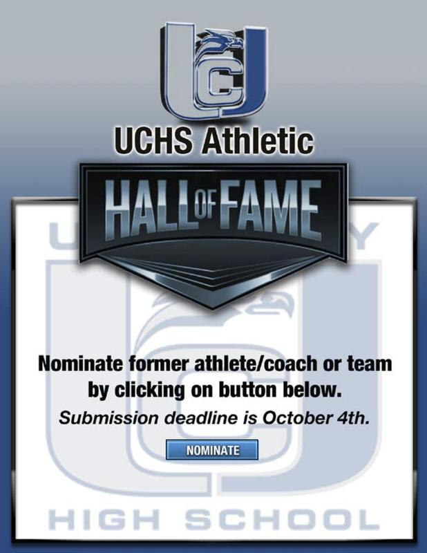 Hall of fame nominations flyer